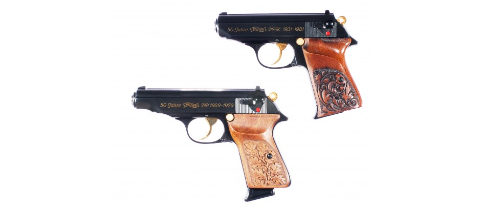 Pistole Walther PP + PPK Jubileum 7,65 mm Br.