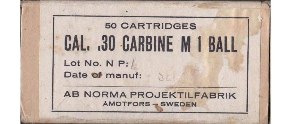 Střelivo Norma 30 Carbine FMJ