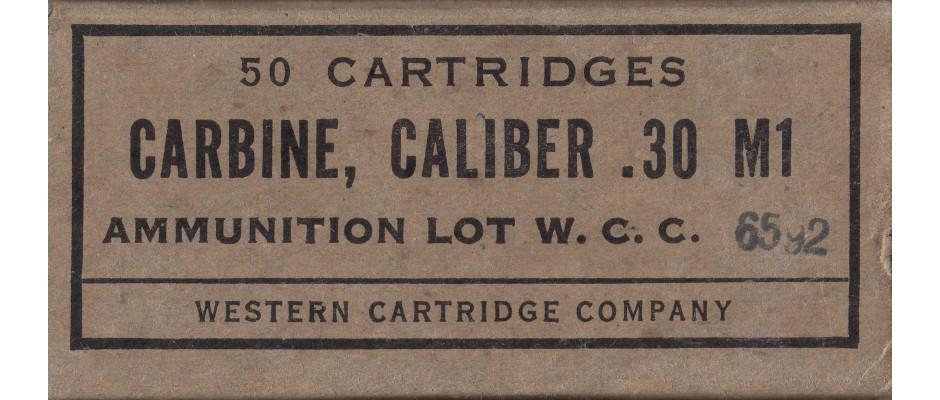 Střelivo W.C.C. 30 Carbine FMJ