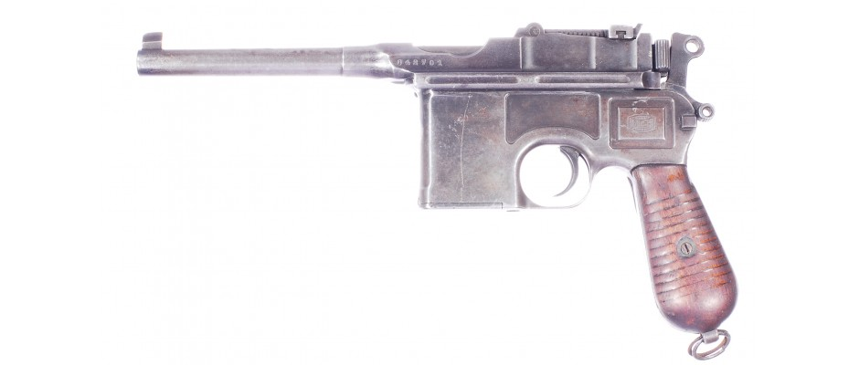 Pistole Mauser C 96 4mm M20 zbraň kat. D!
